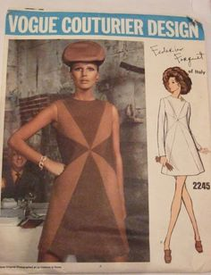 I think I have to stich up one of those 60's mod dresses one day...
