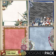 Flaky Friends Digital Stacked papers, predeco scrapbook papers, snowman scrapbook pages, brick scrapbook papers, winter scrapbook papers, winter quick pages, winter stacked papers, penguin scrapbook papers