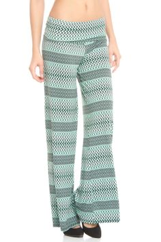 Violet Del Mar Palazzo Pant in Green