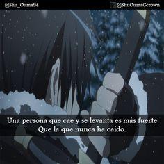 #Sword_Art_Online Una persona que cae y se levanta es mas fuerte..  #Anime #Frases_anime #frases