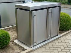 Mülltonnenboxen aus Edelstahl reinigen & pflegen - Das ist fix gemacht! Wir beraten Sie gern. #Mülltonnenbox #Edelstahl #Mülltonnenhaus #Mülltonnenverkleidung #Cortinox