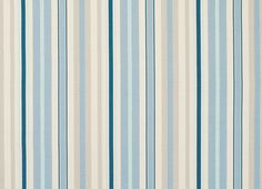 example of fabric for cushions | Mylor Stripe Linen/Cotton Fabric Midnight