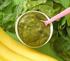 Spinach and Banana Homemade Baby Food Puree
