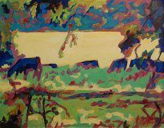 """Texas Cows Grazing Landscape Oil Painting by Bertram Poole"" - Original Fine Art for Sale - � Bertram Poole"