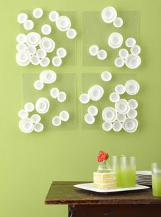 Cupcake liner wall art... Very Interesting