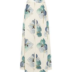 Tory Burch Kendra floral-print stretch silk-georgette maxi skirt (3.245.325 IDR) ❤ liked on Polyvore