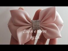 New Baby Accessories Diy Sewing Bow Tutorial Ideas Diy Hair Bows, Making Hair Bows, Diy Bow, Ribbon Hair, Ribbon Bows, Kanzashi Tutorial, Hair Bow Tutorial, Kanzashi Flowers, Diy Hair Accessories