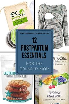 12 Postpartum Essentials For The Crunchy Mom- Make your postpartum easier with these mommy must-haves. From Cloth pads to lactation cookies and reuable breast pads- we've got it covered! Whole Food Multivitamin, Modern Day Hippie, Nursing Pads, Lactation Cookies, Breastfeeding And Pumping, Natural Parenting, Chocolate Chip Oatmeal, Mom And Baby, Whole Food Recipes