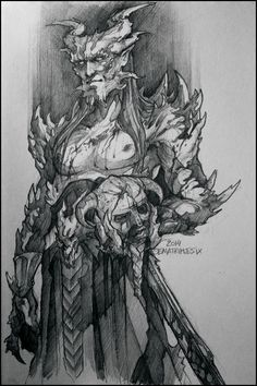 Skyrim World Eater by Otoimai Diy Scarecrow Costume, Dragon Ball, Elder Scrolls Games, Tatoo Art, Angels And Demons, Fan Art, Skyrim, Fantasy Characters, Character Concept