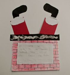 If Santa was stuck in my chimney..good writing prompt idea