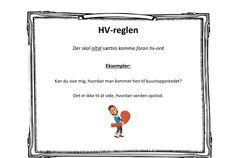 Kommaregler - plakater til ophæng - Bubbleminds Study, School, How To Make, Kids, Hair Styles, Grammar, Trier, Toddlers, Boys