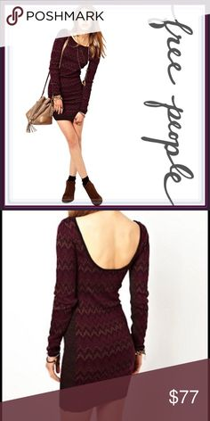 Free People Cozy Cabin Sweater Dress ➖BRAND: Free People  ➖SIZE: XS ➖STYLE: A Sweater Dress that  is mostly bodycon but has stretch. The design makes for a flattering figure ❌NO TRADE Free People Dresses Long Sleeve