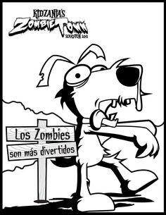 ¡Bache se nos ha convertido en zombie! #ColorearEsKool