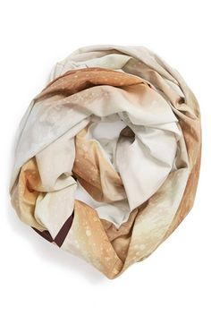 an airy tie-dyed infinity scarf. | @Nordstrom