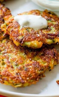 WEIGHT WATCHERS ZUCCHINI FRITTERS ♥ 3SP