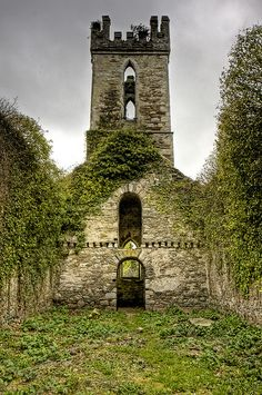 Ruins of 'Old' Castlemacadam Church outside Avoca - County Wicklow Ireland................