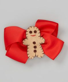 Take a look at this Red Gingerbread Bow Clip by So Girly & Twirly on #zulily today!