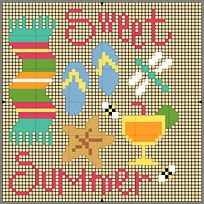 Counted Cross Stitch Patterns, Cross Stitch Designs, Lizzie Kate, Summer Patterns, Bee, Challenge, Embroidery, Crossstitch, Stitching