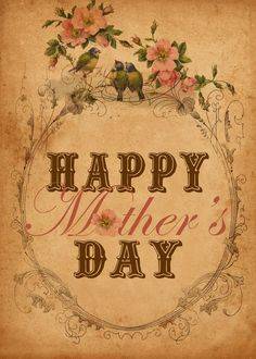 "Tell your mom how special she is with an ""antique chic"" Mother's Day Postcard."