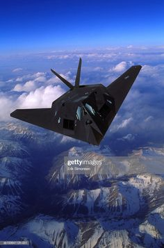 Lockheed Martin Nighthawk stealth fighter over mountains Stealth Aircraft, Stealth Bomber, Fighter Aircraft, Us Military Aircraft, Military Jets, Military Weapons, Air Fighter, Fighter Jets, Air Force Wallpaper