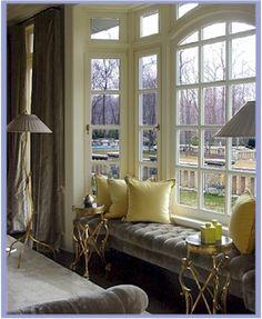 VINTAGE & CHIC: decoración vintage para tu casa · vintage home decor: Bancos bajo ventana [] Window seats