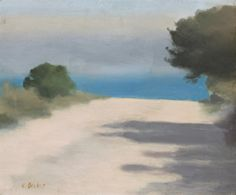 Clarice Beckett White Road, Anglesea (Anglesea is a coastal town in Victoria, Australia). Australian Painting, Australian Artists, Watercolor Landscape, Abstract Landscape, Seascape Paintings, Landscape Paintings, Illustrations, Illustration Art, Sea Art