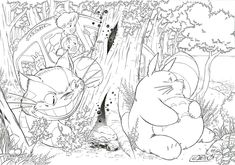 Studio Ghibli Coloring Pages Anime <b>coloring pages ghibli studio</b> - colorine.net  #2458