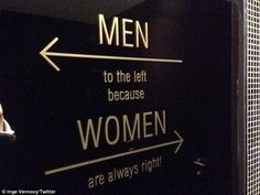 Daily visit: You might visit the bathroom every day, but rarely do people think about the signs on the doors