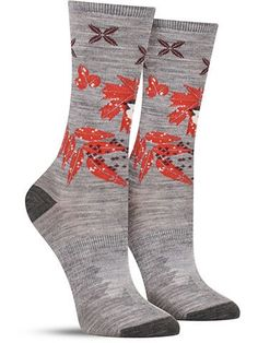 Charley Harper Glacial Bay Finch Wool Socks   Womens