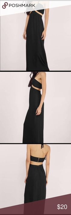 Tobi black cut out dress Never worn! Bought for a formal but went with something else! This dress is so pretty and soft, looking for a good home! Great condition, just been hanging in my closet for a year😊offers welcome! Tobi Dresses Maxi