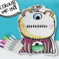 Colour Me in: Blue Monster Softie www.amoramordesigns.com