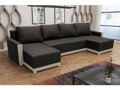 Rohová sedačka BRAGA U, tmavě hnědá látka/krémová látka Rohová sedačka BRAGA U Obrázky rozložené sedačky jsou ilustrativní (jiná barva)!Zadní část sedačky je potažená látkou, je tedy možné postavit sedačku kdekoliv v prostoru. Potahová látka: neo … Outdoor Sectional, Sectional Sofa, Couch, Sofas, Outdoor Furniture, Outdoor Decor, Elegant, Home Decor, Products