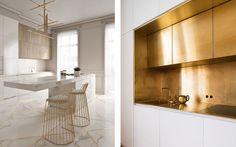 Jak wykorzystać złoto, miedź i stal we wnętrzach? | IH - Internity Home