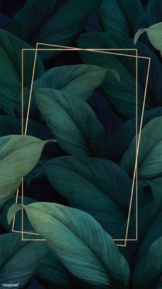Green tropical leaves patterned poster vector | premium image by rawpixel.com