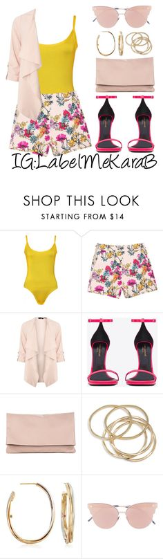 """""""KB092"""" by labelmekarab on Polyvore featuring WearAll, Dorothy Perkins, Yves Saint Laurent, Sole Society, ABS by Allen Schwartz, Roberto Coin, So.Ya, Pink, YSL and nude"""