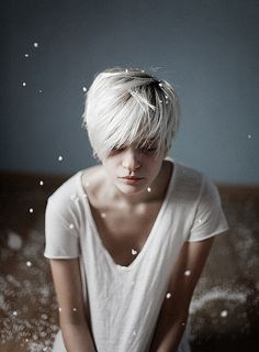 I want the color and the cut. I really want to try white-blond at some point, but I'm too scared to.