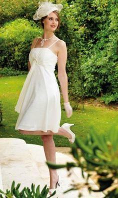 ... robe saline, robe mariée - Robes de mariée : robe courte, robe