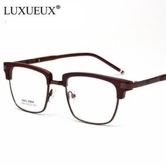 a60bd2cd8c Light Comfortable TR90 Glasses Frame Fashion Men Women Metal Half Frame  Optical Eyeglasses Frame Brand