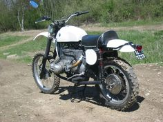 cafe, seen a bunch, bmw dirt bikes, ditto. how about posting up some pics of completed or in progress bmw airhead scramblers? Street Motorcycles, Bmw Vintage, Custom Bmw, R80, Dirt Bikes, Scrambler, Let It Be, Dreams, Adventure