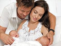 Angelina Jolie - Brad Pitt twins named Knox Leon, Vivienne Marcheline