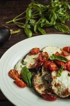 Roasted Tomatoes and Cheesy Eggplant - Peppered Salt