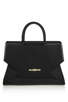 Givenchy Medium Obsedia bag in black matte and patent-leather NET-A-PORTER.COM
