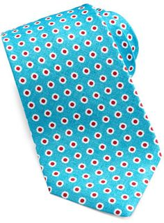 Aquamarine Print Tie by Kiton. Buy for $295 from Neiman Marcus