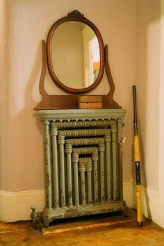 Such a decorative radiator.  I've never seen one like it before.