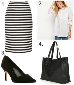A stripy skirt