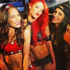 WWE Divas. my girls, Eva Marie, Nikki Bella, and my favorite one of all Brie Bella the twin of nikki