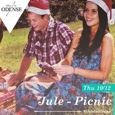 Jule-picnic i det gamle Spejltelt. Picnic Fyn har saftsusemig udvidet picnickonceptet og gentager succesen fra sidste jul . Læs anbefalingen på: http://www.thisisodense.dk/da/21568/jule-picnic-i-det-gamle-spejltelt