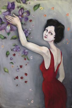 Cassandra Barney - Violetta -  LIMITED EDITION CANVAS Published by the Greenwich Workshop