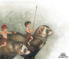 Сказочные иллюстрации Erle Ferronniere
