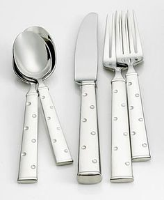 "Kate Spade ""Larabee Dot"" Upscale Flatware - whimsical fun for your tabletop"
